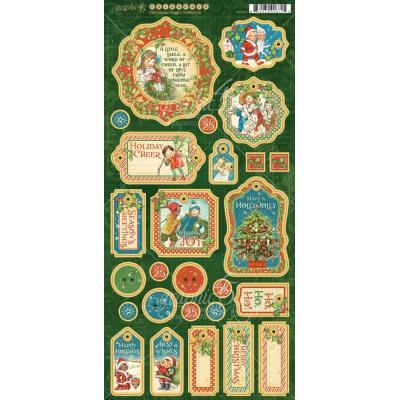 Graphic 45 Christmas Magic - Christmas Magic Chipboards