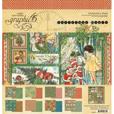 Graphic 45 Christmas Magic Designpapier - Christmas Magic Collection Pack