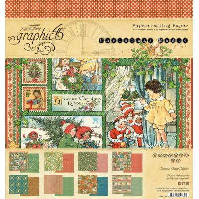 Graphic 45 Christmas Magic - 8x8 Inch Paper Pad