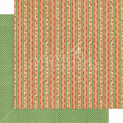Graphic 45 Christmas Magic Designpapier - Candy Cane Ribbons
