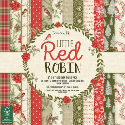 Dovecraft Little Red Robin - 6x6 Inch Paper Pack