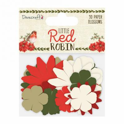 Dovecraft Little Red Robin - Papierblumen
