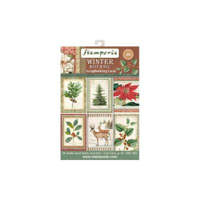 Stamperia Scrapbooking Karten- Winter Botanic