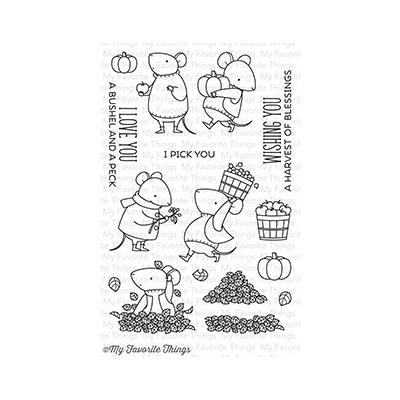 My Favorite Things Clear Stamps Harvest Mouse