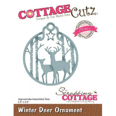 Cottage Cutz - Winter Deer Ornament