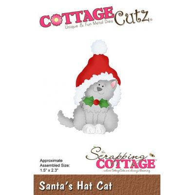 Cottage Cutz - Santa's Hat Cat