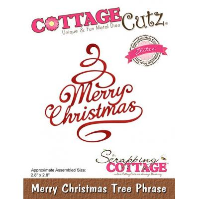 Cottage Cutz - Merry Christmas Tree Phrase