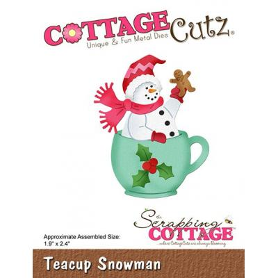 Cottage Cutz - Teacup Snowman