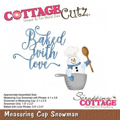 Cottage Cutz - Measuring Cup Snowman