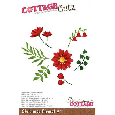 Cottage Cutz - Christmas Floral 1
