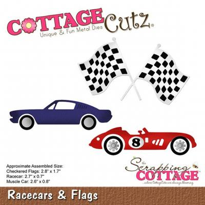 Cottage Cutz - Racecars & Flags