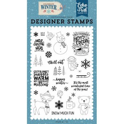 Echo Park - Clear Stamps Happy Winter