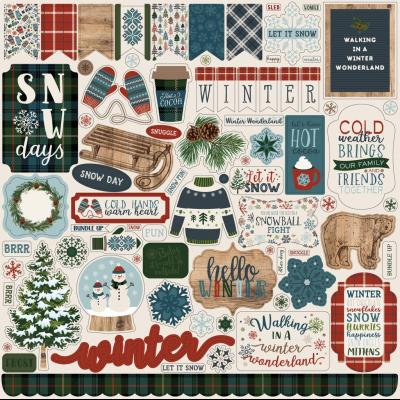 Carta Bella Let It Snow - Sticker Sheet