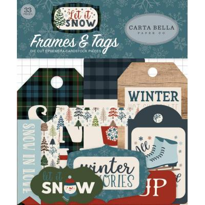 Carta Bella Let It Snow - Frames & Tags