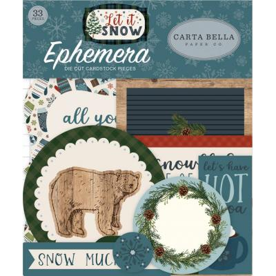 Carta Bella Let It Snow - Ephemera
