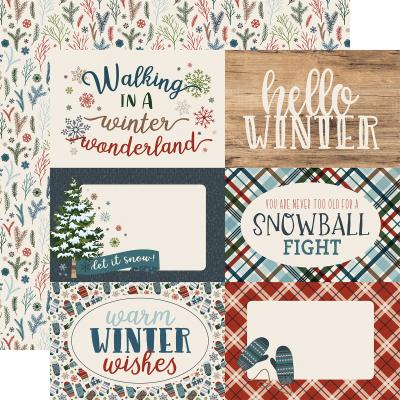 Carte Bella Let It Snow - 4x6 Journaling Cards