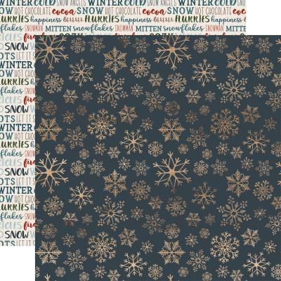 Carte Bella Let It Snow - Icy Snowflakes