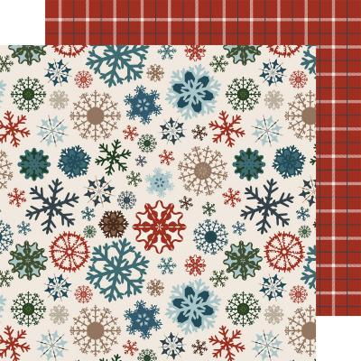 Carte Bella Let It Snow - Glistening Snowflakes