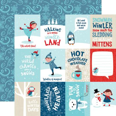Echo Park Celebrate Winter - 3x4 Journaling Cards