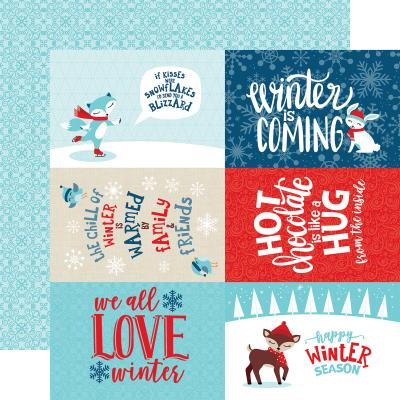Echo Park Celebrate Winter - 4x6 Journaling Cards