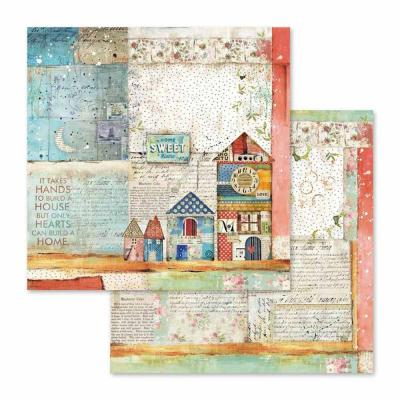 Stamperia Patchwork - Sheet Little Houses