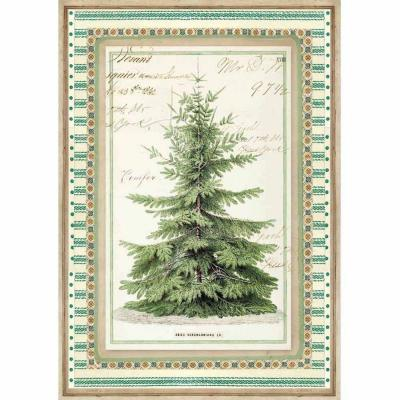 Stamperia Rice Paper A4 -  Winter Botanic Christmas Tree