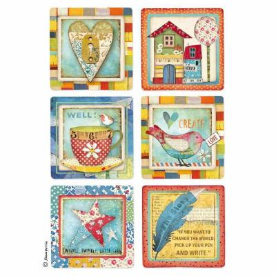 Stamperia Rice Paper A4 - Patchwork Cards