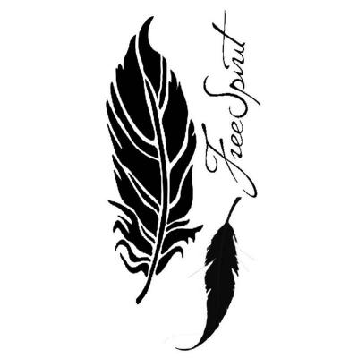 Stamperia Thick Stencil Feathers