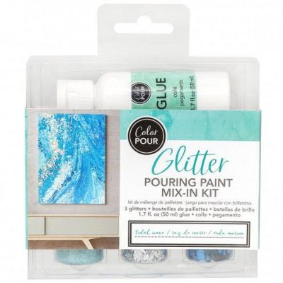 American Crafts Color Pouring - Glitterfarbe Tidal
