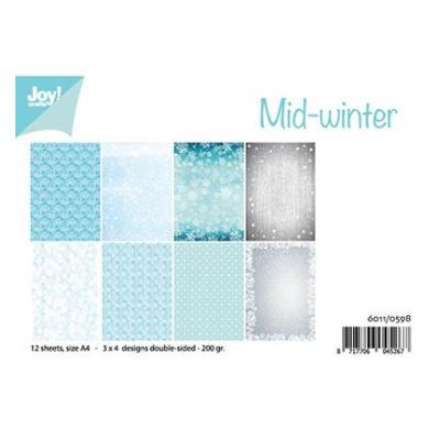 JoyCrafts Designpapier - Mid Winter