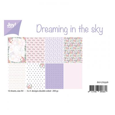JoyCrafts Designpapier -Dreaming in the sky