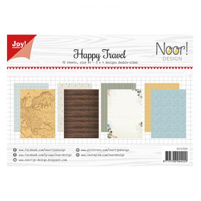 JoyCrafts Designpapier -Happy Travel