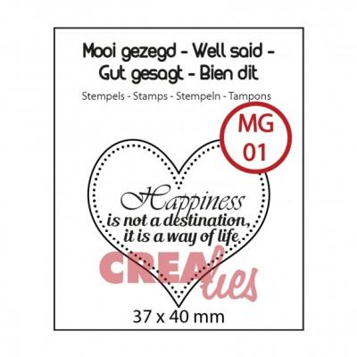 Crealies Clearstamp Happiness Textstempel