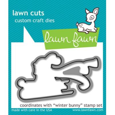 Lawn Fawn Outline-Stanzen Winter Bunny