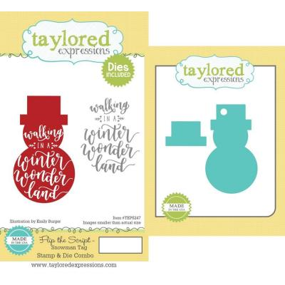 Taylored Expressions Rubber Stamps und Stanzschablonen - Snowman Tag