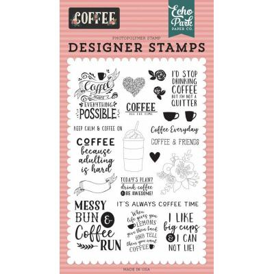 Echo Park Clear Stamps - Coffee Time