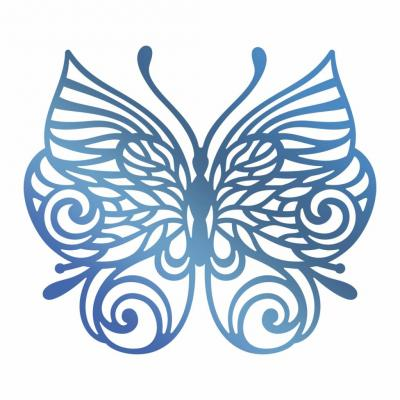 Couture Creations Hotfoil Stamp - Schmetterling