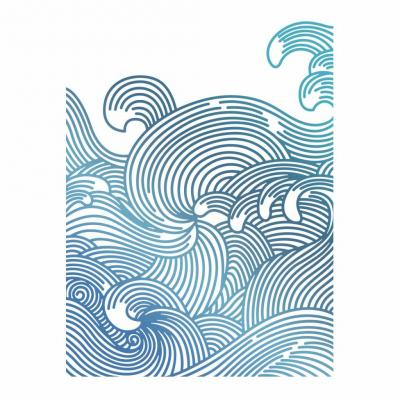 Couture Creations Hotfoil Stamp - Meer