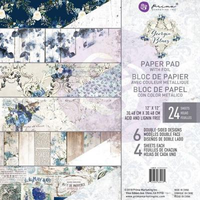 Prima Marketing 12x12 Inch Paper Pad - Georgis Blues
