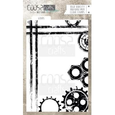 COOSA Crafts Clear Stamp - Gears