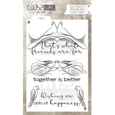 COOSA Crafts Clear Stamps A6 - Twice