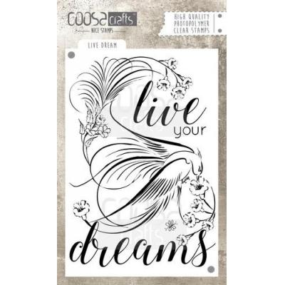 COOSA Crafts Clear Stamp - Live Dream