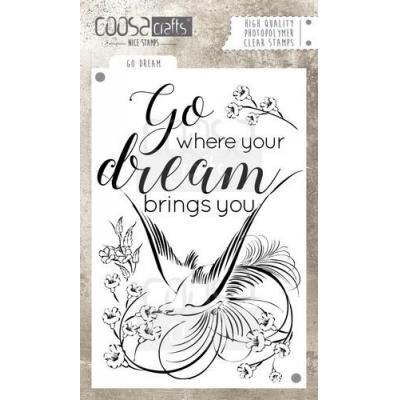 COOSA Crafts Clear Stamp - Go Dream