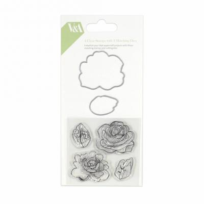 First Edition Set aus Stempel und Stanzschablonen - V&A Flower