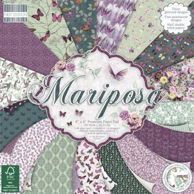 First Edition Paper Pad 8x8 Inch Paper 8x8 Inch- Mariposa