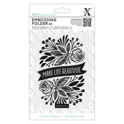 Xcut Embossing Folder - Make Life Beautiful