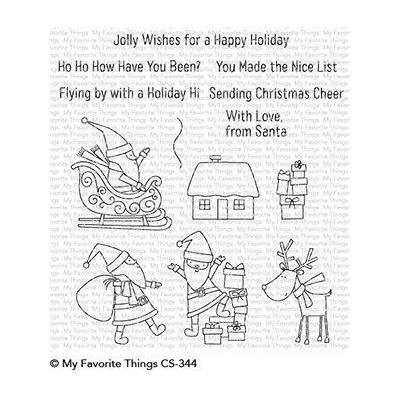 My Favorite Things Clear Stamps - Here Comes Santa Claus