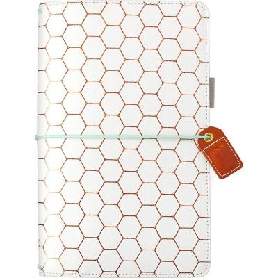 Websters Pages Traveler's Notebook Planner - Copper Hexagon