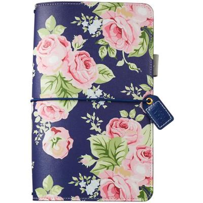 Websters Pages Traveler's Notebook Planner - Navy Floral