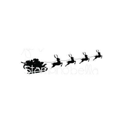 Stamping Bella Cling Stamps - Santa's Sleigh Silhouette
